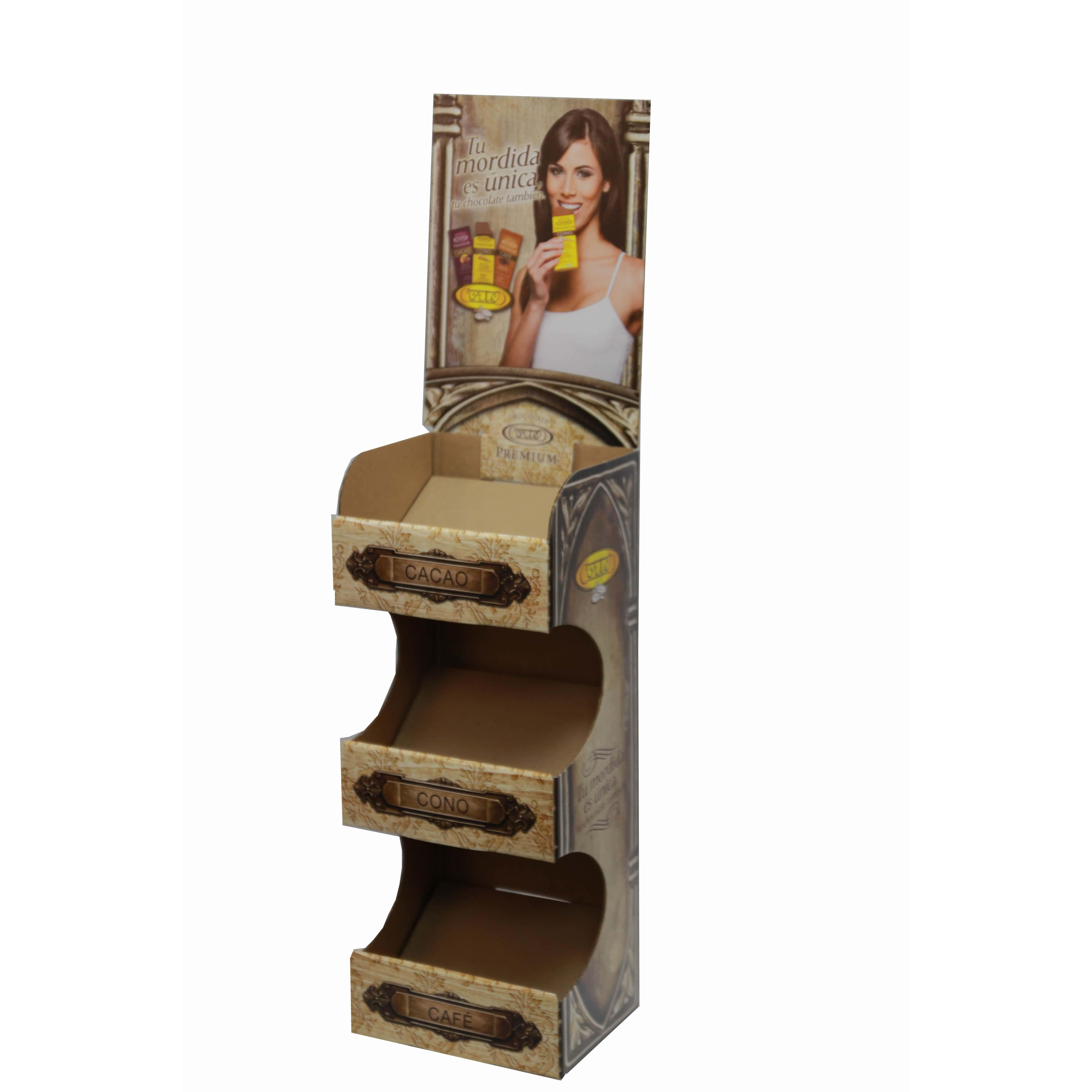 3 tier chocolate counter display photo