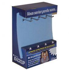 Backup peg hook counter display sample photo