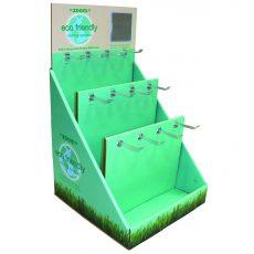 Eco-friendly 3 tier peg hook pop display photo
