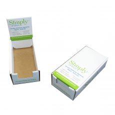 Simply lip balm cardboard display photo