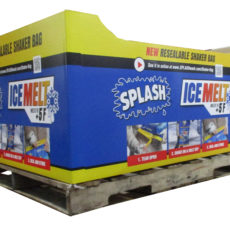 Splash Ice Melt Pallet Display